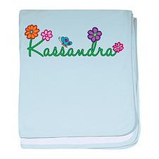 Kassandra Flowers baby blanket
