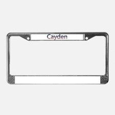 Cayden Stars and Stripes License Plate Frame