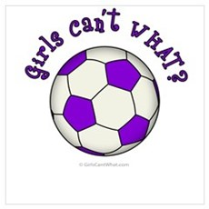 Purple Soccer Ball Poster