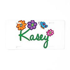 Kasey Flowers Aluminum License Plate