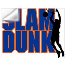 Slam Dunk Basketball Wall Decal