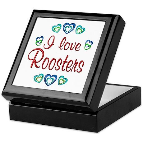 I Love Roosters Keepsake Box
