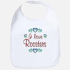 I Love Roosters Bib