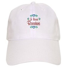 I Love Roosters Baseball Cap