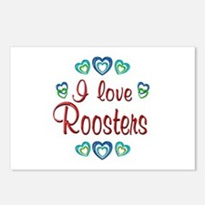 I Love Roosters Postcards (Package of 8)
