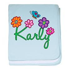 Karly Flowers baby blanket