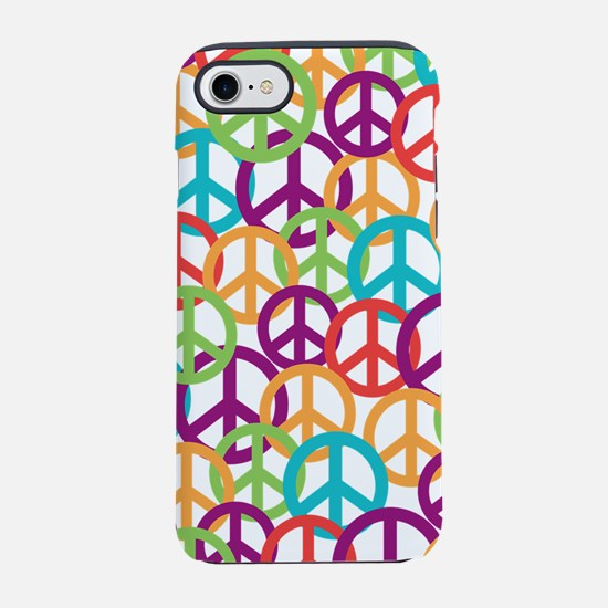 Colorful Peace Symbols iPhone 7 Tough Case