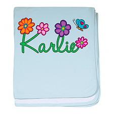 Karlie Flowers baby blanket