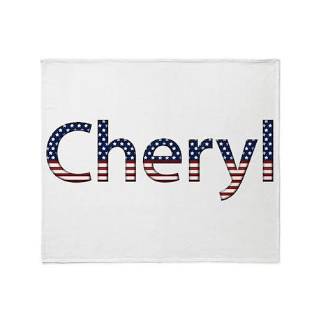 Cheryl Stars and Stripes Throw Blanket