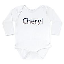 Cheryl Stars and Stripes Long Sleeve Infant Bodysu