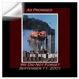 9 11 never forget Wall Decals