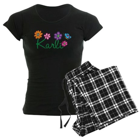 Karli Flowers Women's Dark Pajamas
