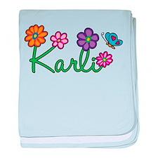 Karli Flowers baby blanket