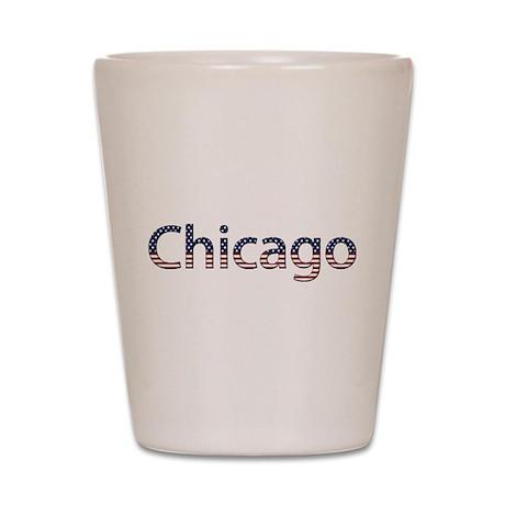 Chicago Stars and Stripes Shot Glass