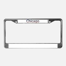 Chicago Stars and Stripes License Plate Frame