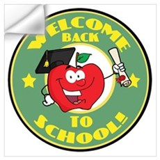 Welcome Back to School Apple Wall Decal