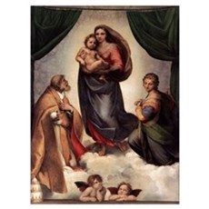 The Sistine Madonna Canvas Art