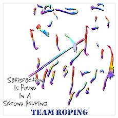 Team Roping Poster
