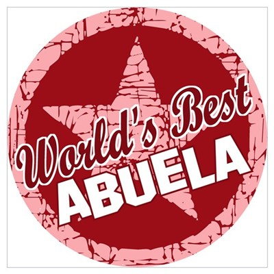 World's Best Abuela Canvas Art