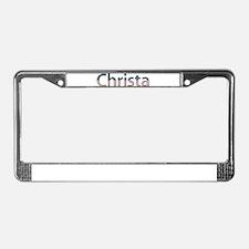 Christa Stars and Stripes License Plate Frame