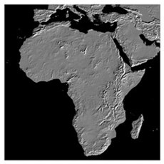 Africa Relief Map Canvas Art