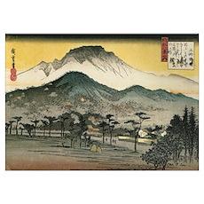 Utagawa Evening Temple Poster