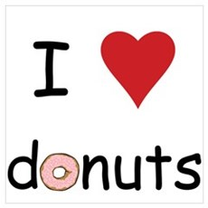 I love donuts Canvas Art