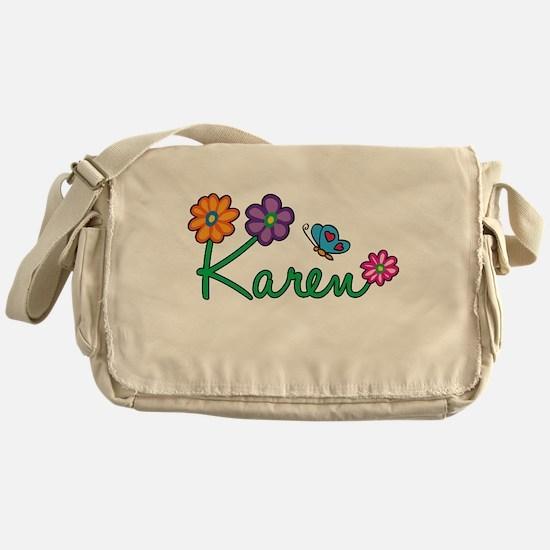 Karen Flowers Messenger Bag