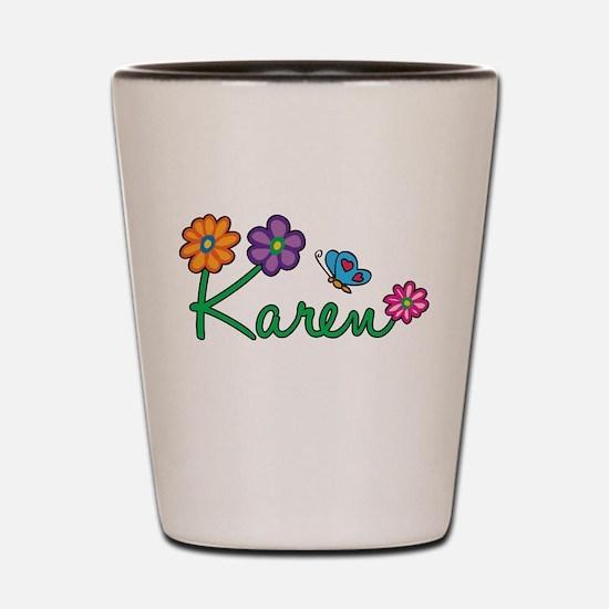 Karen Flowers Shot Glass