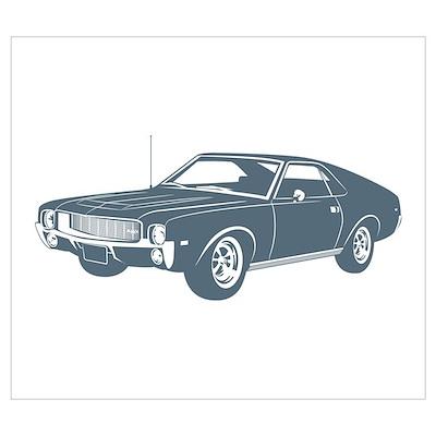 1968 AMC AMX Poster