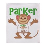 Little Monkey Parker Throw Blanket