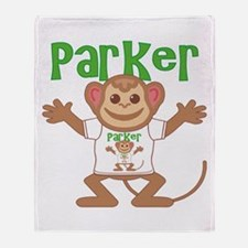 Little Monkey Parker Throw Blanket