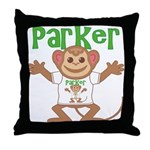 Little Monkey Parker Throw Pillow