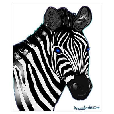 Zebra Lt Canvas Art