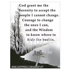 TWISTED SERENITY PRAYER Poster
