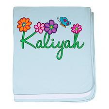 Kaliyah Flowers baby blanket