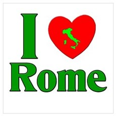 I Love Rome Canvas Art