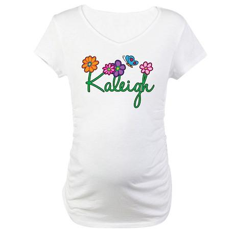 Kaleigh Flowers Maternity T-Shirt