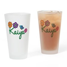 Kaiya Flowers Drinking Glass