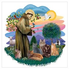 St Francis / 4 Cats Poster