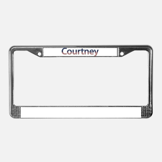 Courtney Stars and Stripes License Plate Frame