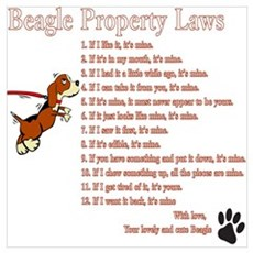 Beagle Property Laws Wall Art Poster