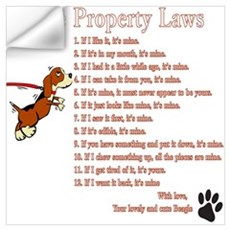 Beagle Property Laws Wall Art Wall Decal
