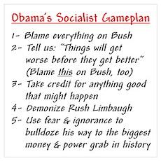 """Obama's Socialist Gameplan"" Poster"