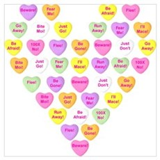 Curmugeon Candy Hearts<br> Canvas Art