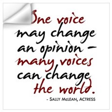 One Voice Wall Decal