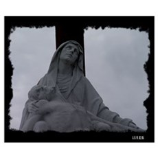 New Orleans cemetery statue Poster