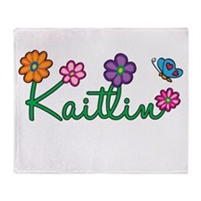 Kaitlin Flowers Throw Blanket