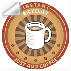 Instant Bicyclist Wall Decal