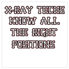 x-ray techs know all the righ Framed Print